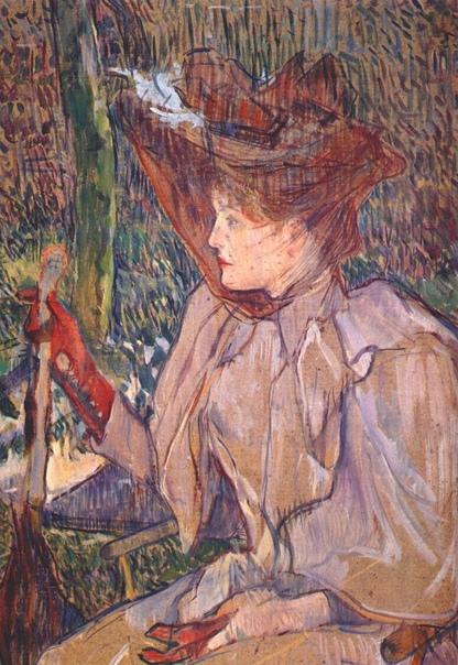 «Женщина с перчатками », Анри де Тулуз-Лотрек