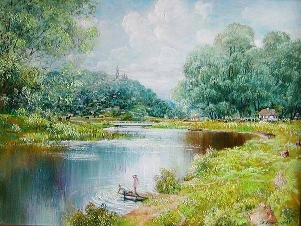 Украинский художник Владимир Панич создает свои картины в разных жанрах и стилях, но предпочитает жанр пейзаж в стиле реализм или импрессионизм Рисовать начал с 2 лет, выставляться с 7. Его