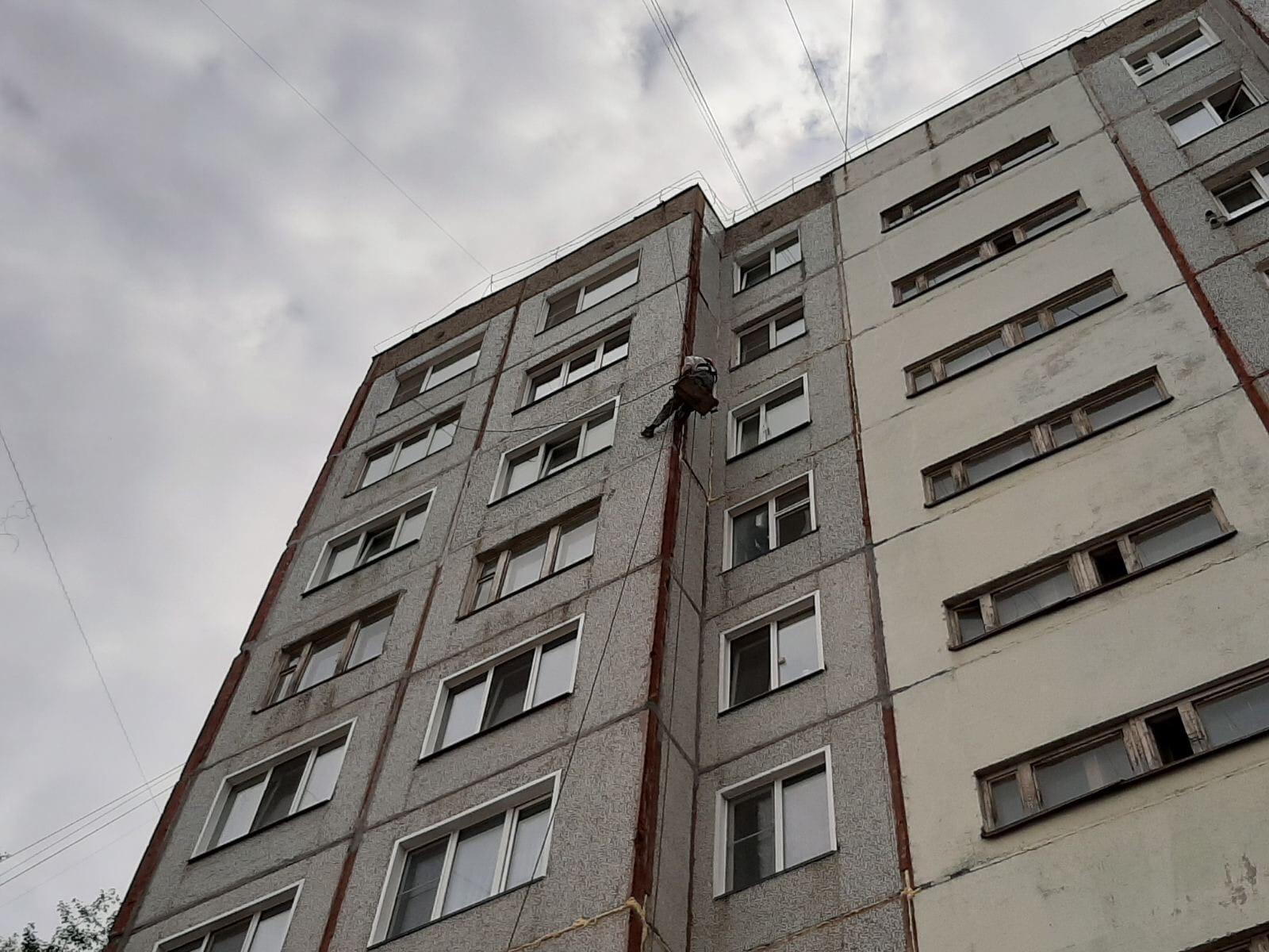 Улица Кольцова дом 22/1. Гидроизоляция межпанельных швов.