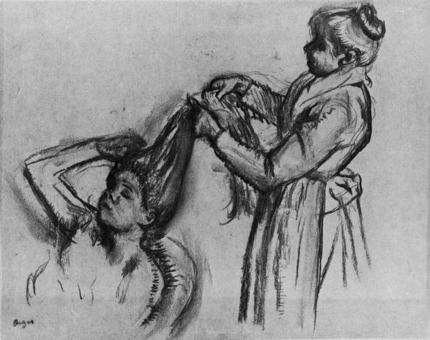 «Утренний туалет. Расчесывание волос», Эдгар Дега
