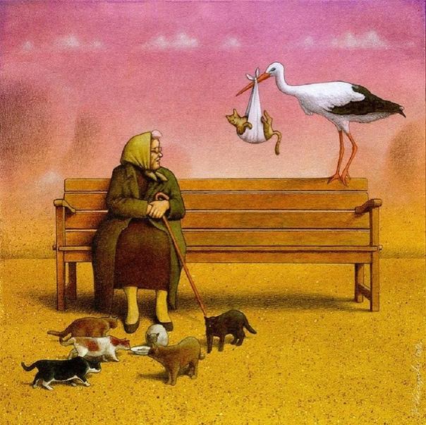Польскому художнику Павлу Кучинскому удаётся выразить все проблемы нашего мира в простых рисунках Его карикатуры понятны без слов. Ведь Павел Кучинский своими иллюстрациями говорит больше, чем