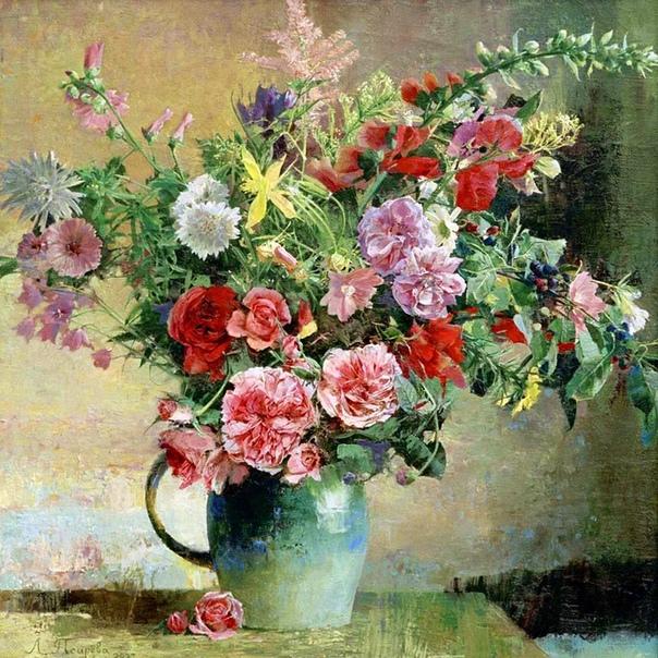 Основной творческой темой Ларисы Псаревой являются натюрморты с цветами. Такая узкая направленность не помешала художнице получить широкую известность в России и за её пределами. Причина