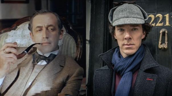 Сегодня свои дни рождения отмечают сразу два Шерлока Холмса  Василию Ливанову и Бенедикту Камбербетчу исполнилось 85 и 44 года соответственно
