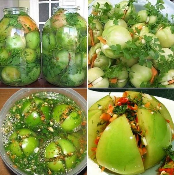 Зеленые помидоры «пальчики оближешь»