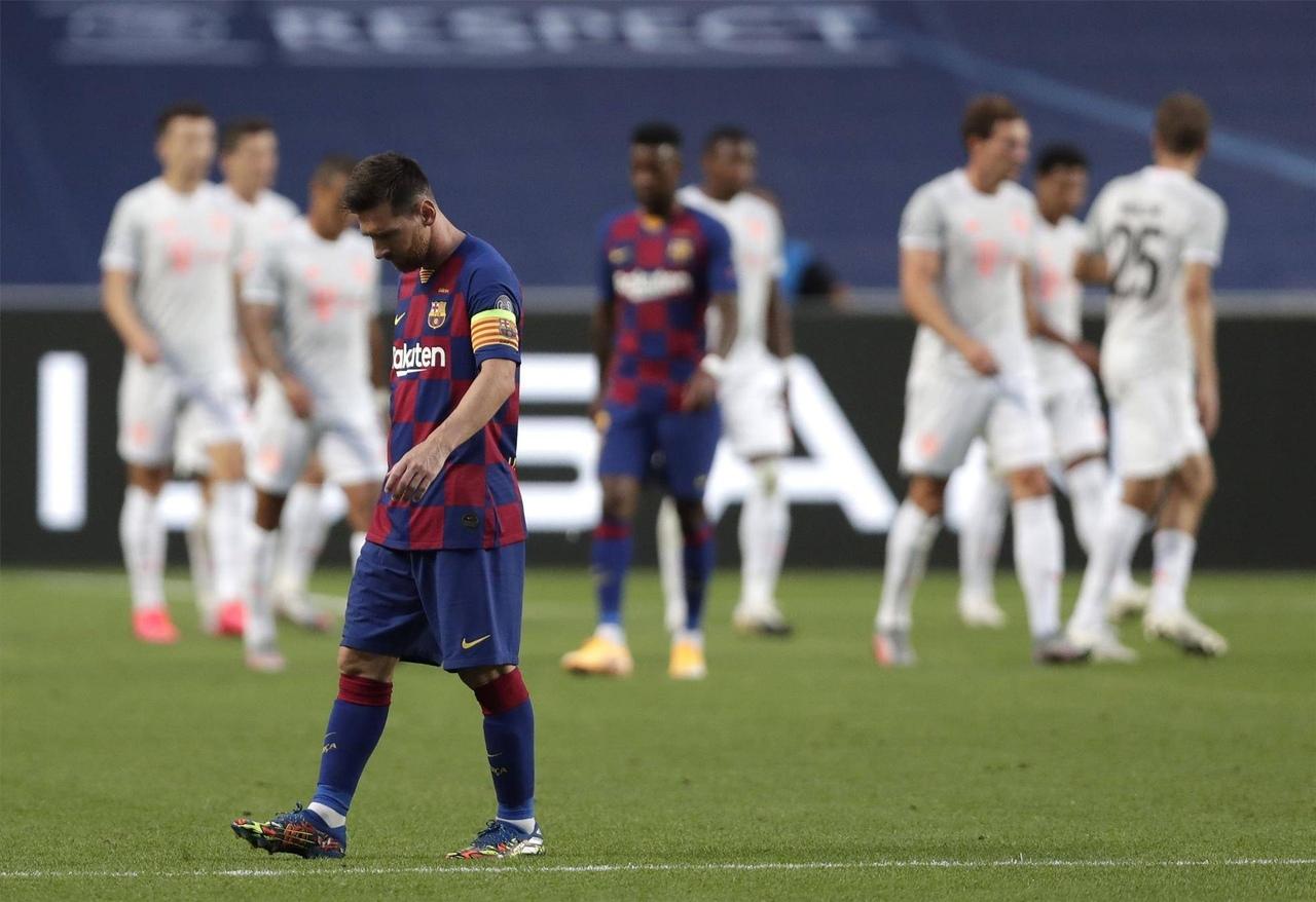 """ECHL. """"Barselona"""" yirik hisobda """"Bavariya""""ga mag`lub bo`lib turnirni tark etdi"""