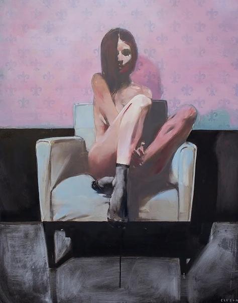 Американский художник Майкл Карсон, пишет свои картины в современном экспрессионизме