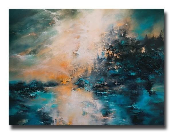 Современный американский художник КристианЛейтер / christleyter при создании своих работ использует как кисть, так и мастихин В основном он работает в технике абстрактного импрессионизма, хотя