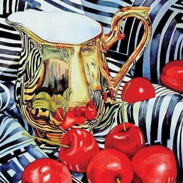 Яркие, сочные и невероятно точные акварельные натюрморты современного американского художника Крис Крупински Художник Крис Крупински (Chris rupinsi) занимается живописью с раннего детства.
