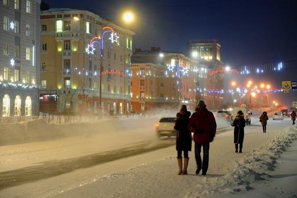 И в Норильске бывает красиво Несмотря не трескучие морозы