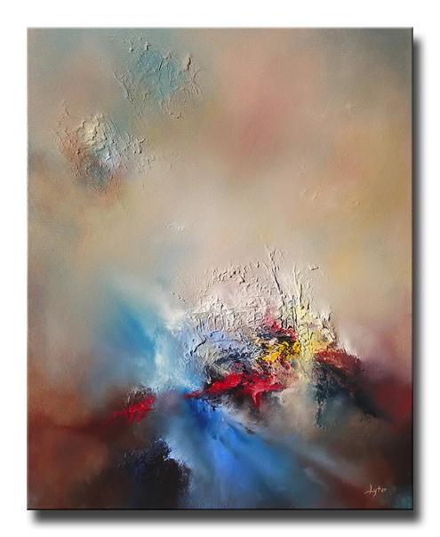 Современный американский художник КристианЛейтер / christleyter при создании своих работ использует как кисть, так и мастихин