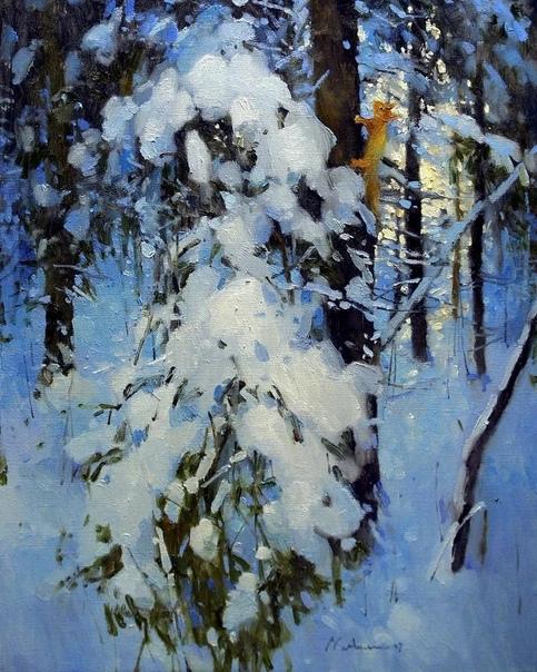 Лирические пейзажи современного российского художника Алексея Савченко можно узнать по их «русскости» и настроению