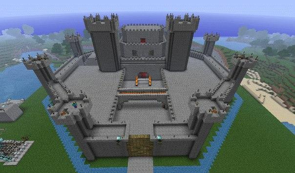 как строить замки в майнкрафте
