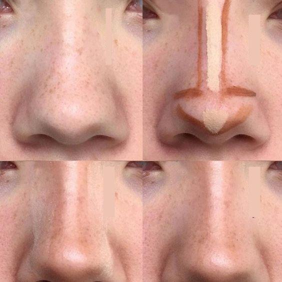 как уменьшить горбинку носа макияжем фото ящик