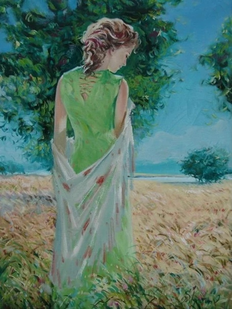 Талантливый художник Сергей Игнатенко из Белоруссии пишет очень интересные и довольно откровенные картины, в которых показывает всю прелесть и все очарование женского образа в целом