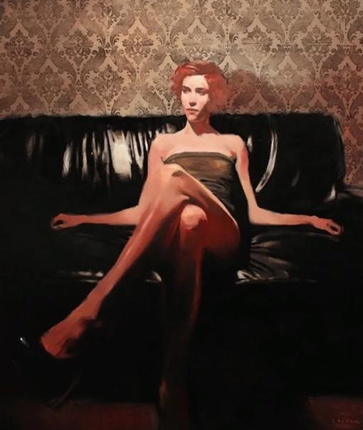 Американский художник Майкл Карсон, пишет свои картины в современном экспрессионизме Каждая его работа, это отдельная история в ретро стиле, в которую живописец вкладывает свои чувственные