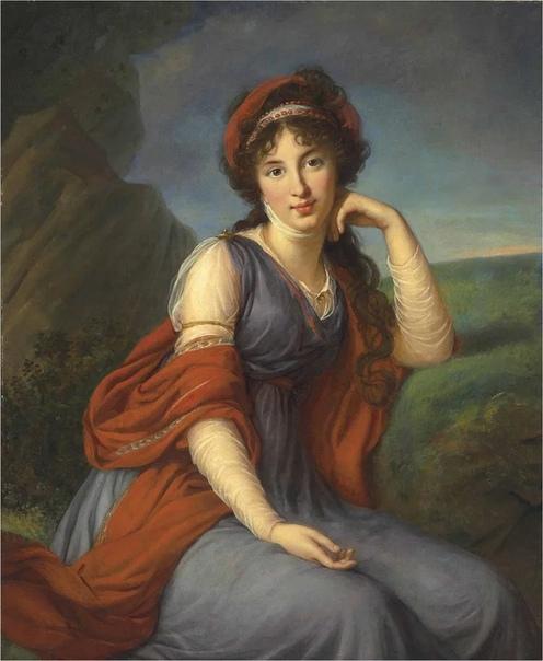Французская художница Элизабет Виже  Лебрен несколько лет прожила в России, написав около 60 портретов русской знати