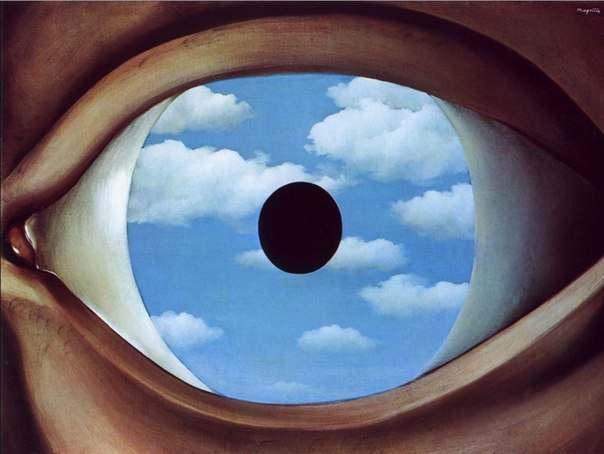 «Фальшивое зеркало», Рене Магритт